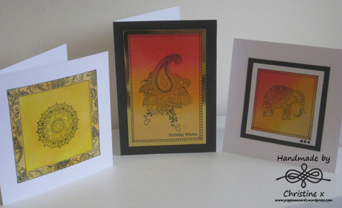 Morocco, Home made cards, Distress inks