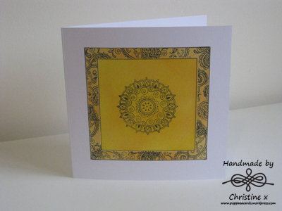 Morocco, Hand made cards, Distress inks