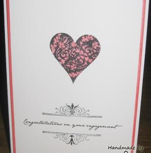 Hand made card, hearts, distress inks
